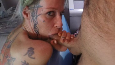 Creampie in the solarium, Sex in public places - Full version