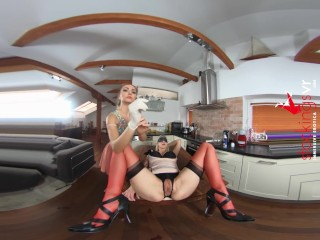 StockingsVR – Victoria Puppy is a bitch with a whip