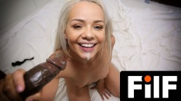 FILF – Petite Elsa Jean's Car Problems Turn Into Hook Up With BBC