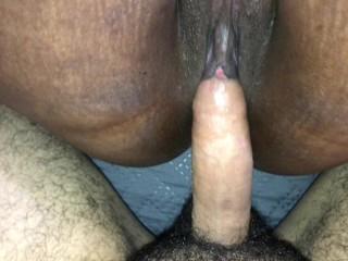 Big mom fat ass orgasming while he cums in my ass anal cum in ass wet dick clit stimu