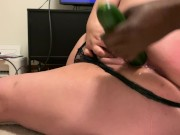 Amateur Bbw cucumber discovery P3: cucumber do with me everything. Squirtin
