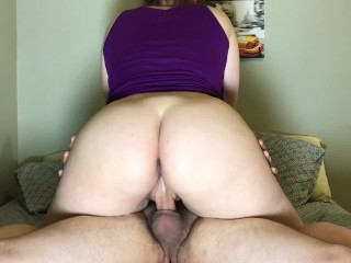 Free Amateur Pornstar Thumbs Riding Boyfriend Until He Cums Inside