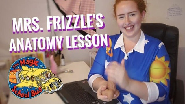Sex yd Mrs. frizzle teaches you sex-ed, gives you jerk off instructions