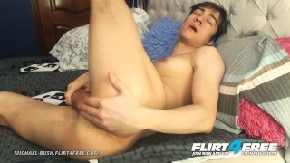 Michael Bush on Flirt4free - Sweet Boy Next Door Rubs His Tight Twink Hole