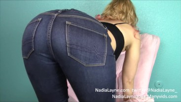 Jeans, G-string, and Butt Plug Tease