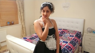 French maid paid for sex and swallow, cheated on my wife POV