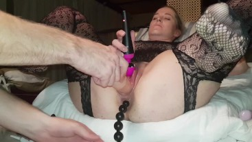Pussy play with toys and anal progression for amateur milf