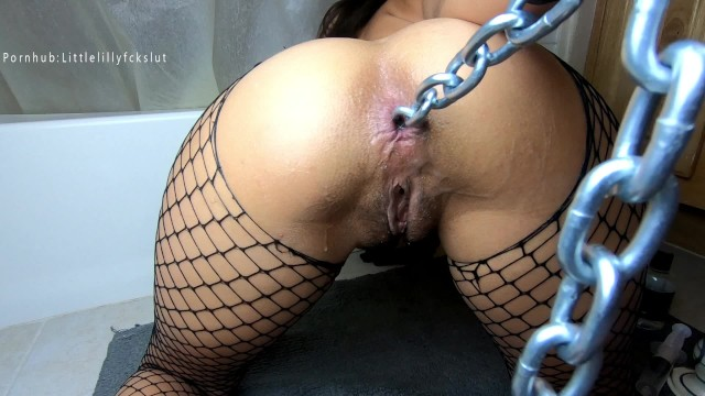 Adult metal swing set gorilla Hot anal insertions: stretching my ass with ball, buttplug, slink