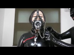 Japanese rubber doll with blowjob and sex