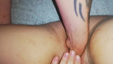 My pussy fucked with bottle and then fisted