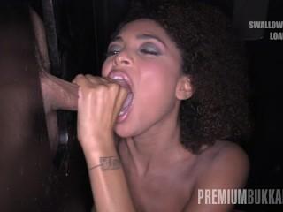 The Adult Video Experience Presents Premium Bukkake – Luna Corazon swallows 12 cum loads in a gloryhole box