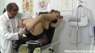 Mature woman gyno exam secretly caught on hidden cam by freaky gynecologist