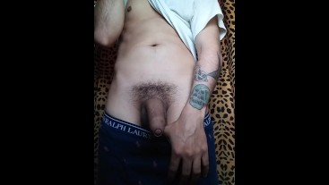 Latino Dancing and playing with his dick before shower