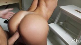 Gorgeous GF takes care of her BF and gets cum all over her! - LeoLulu