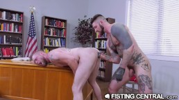 FistingCentral Ass Fucked 2 Loosen Up for FIST Sex in Classroom