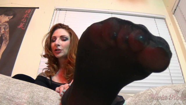 Bodystocking pantyhose - Sexy milf olivia rose teasing nylon feet in bodystockings joi
