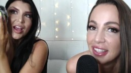 ASMR with Porn Stars Romi Rain & Abigail Mac
