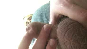 Foreskin Play while Camming Post Orgasm! Finger Foreskin, Tip Rubbing!