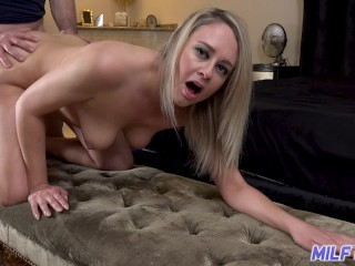 Pornhub Cheating Mom Horny blonde MILF slut gives up her juicy pussy for young stud