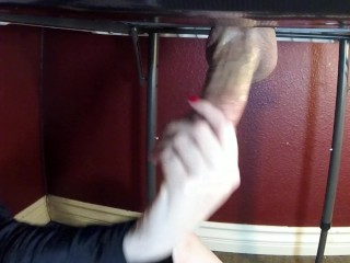 Sensual Milking Table Edging & Ball Grabbing