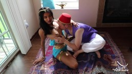 SLUTTY DESI PRINCESS JASMINE BLOWS ALADDIN ON MAGIC CARPET