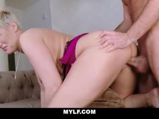MYLF – Busty Stepmom Fucks Stepson