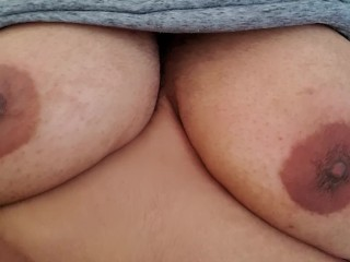 Play with my tits.