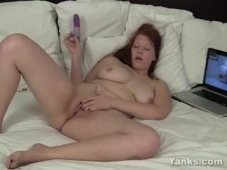 Yanks Redhead Ginny Denmarc Masturbating