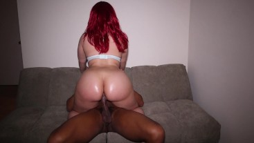 Love bouncing my big ass on a hard BBC!