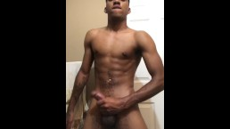 Sexy Teen Dude Jacking Off His BBC & Cums!