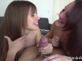 AMATEUR THREESOME   SPANISH TEEN AND CZECH BABE   MADE IN CANARIAS