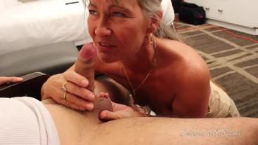 Milf Gives Dorm Room Blow Job