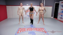 Tori Avano mixed nude wrestling fight and sex - Evolved Fights