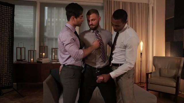 The american way gay Interracial three way