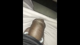 Driving with my thick dick and balls out