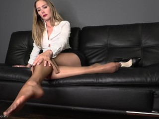 Point of view/pov/pantyhose full my domination worship