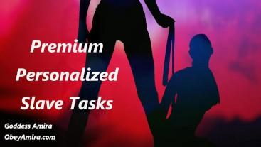Premium Personalized Slave Tasks