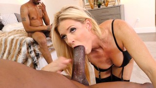 Blonde Cougar India Summer Has Threesome Sex With BBC