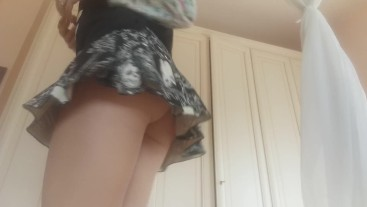 I pull my skirt up and give me a wonderful anal orgasm. enjoy!
