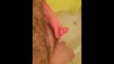 Hairy Teen Pisses And Plays With His Cock