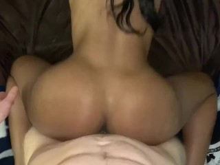 White Guy Fucks Hot Black Step Sister So Hard He Cums All In Her Pussy