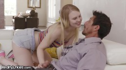 RealityJunkies Teen Babysitter Roleplays Wife for DILF Dick