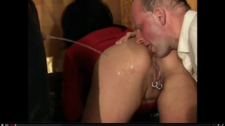 Bisexual MMF piss party