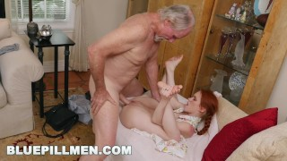BLUE PILL MEN - Old Guys Frankie and Duke Play With Petite Dolly Little