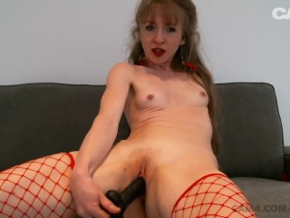 The Webcam Experience Presents Petite Cam Slut Cums and Creams All Over Her Dildo | CAM4