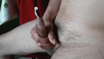 Daddy Masturbating his Cock and Cumshot