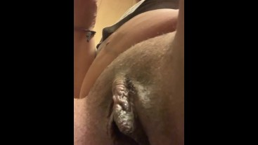 Peeing on my toy as I fuck my self with it then tasting