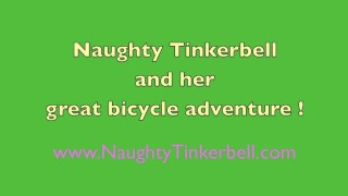 Tinkerbell masturbation riding fun fucking her holes with butt plugs saddle