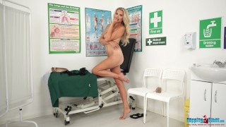 Naughty Nurse Ashley Strips Out Of Her Uniform