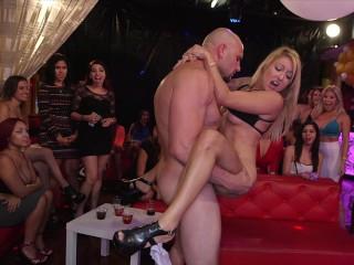 DANCING BEAR – Big Dick Studs Sling Dick In Strip Club During CFNM Party